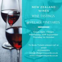 Tasting Event - New Zealand Wines