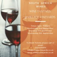 Tasting Event - South African Wines